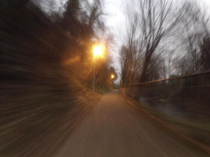 Im Abendlicht der Bünz entlang