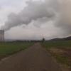 Dampfwolke des KKW Leibstadt