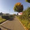 Herbstlicher Radweg bei Wohlen