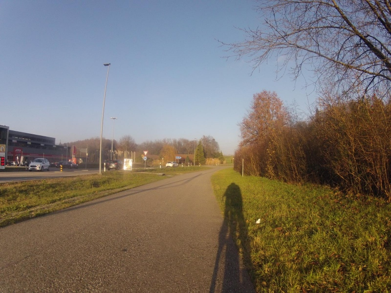 Auf der Radroute 34 (alter Bernerweg) nach Hunzenschwil