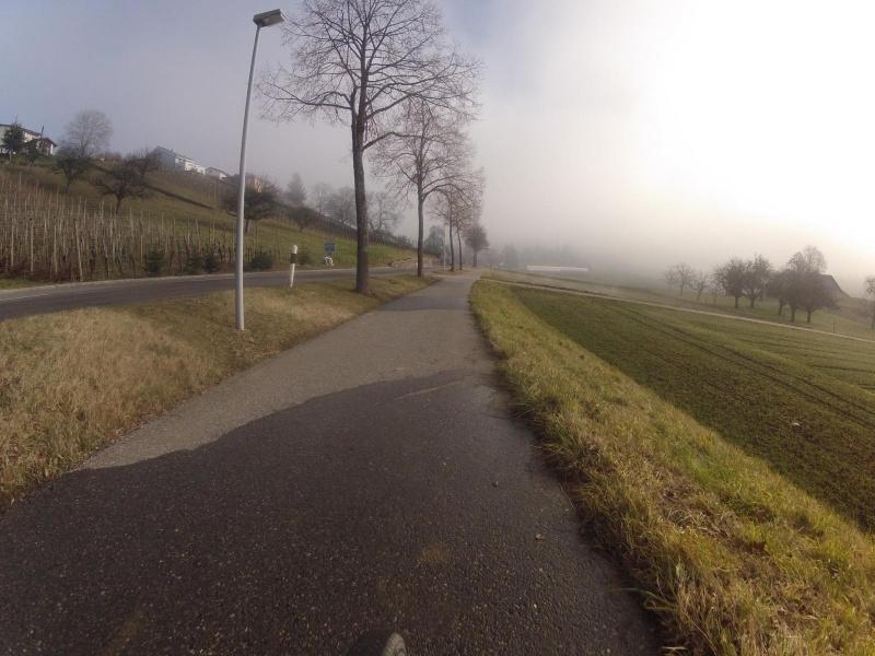 an der Nebelgrenze