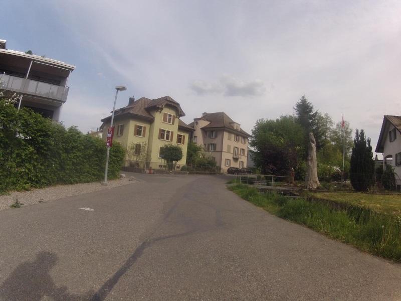 Aarau, dem Stadtbach entlang