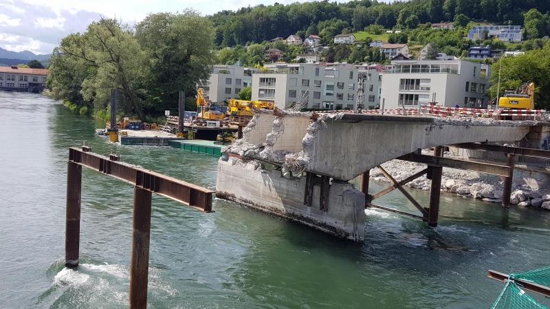 Aarau, Abriss Kettenbrücke