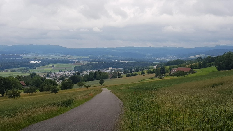Blick vom Heitersberg ins Reusstal