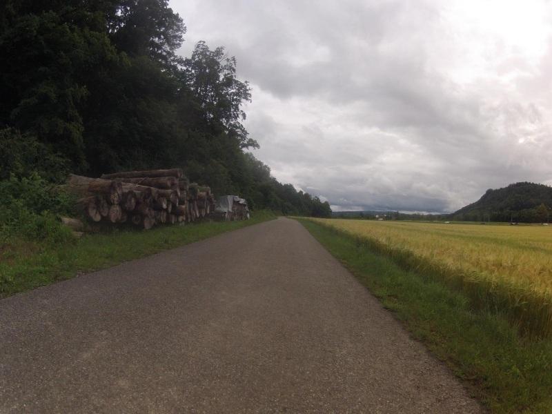 Radweg zwischen Siggenthal Station und Untersiggenthal