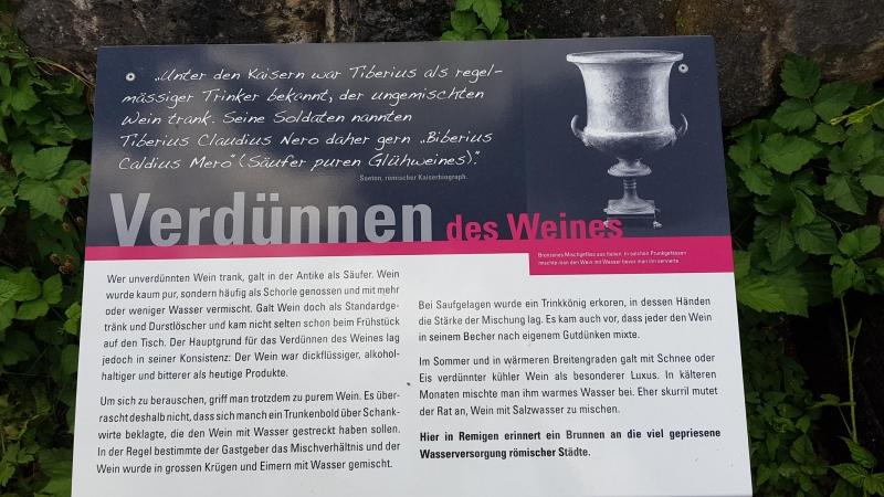 Verdünnen des Weines bei den Römern