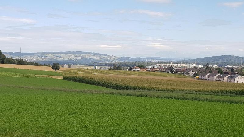 Blick ins Reusstal von Habsburg her