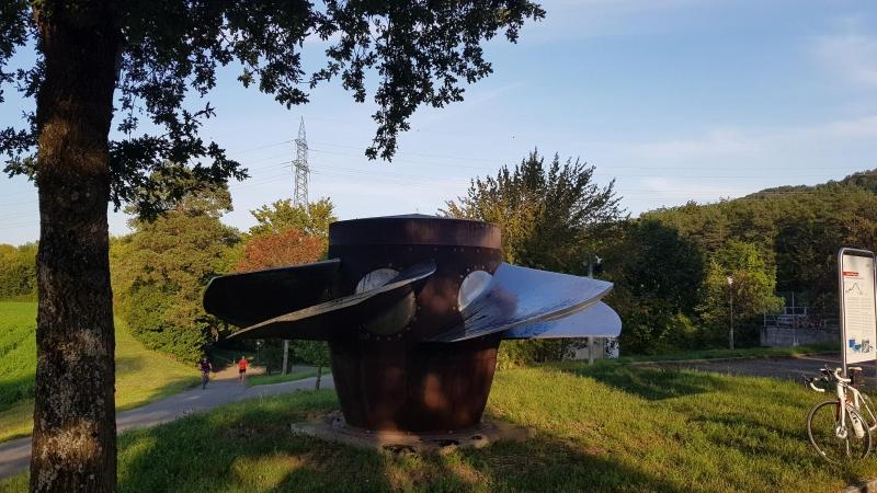 Turbine beim Wasserkraftwerk in Villnachern
