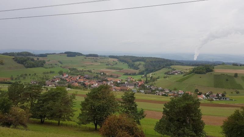 vom Rotberg nach Mandach und zum Schwarzwald hinüber