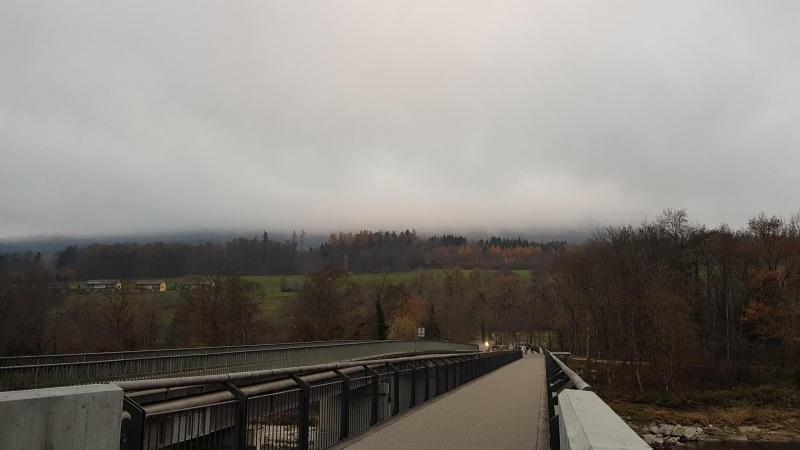 Nebel über dem Aaretal
