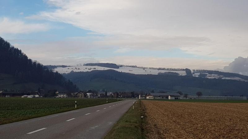 Rotberg mit Schnee