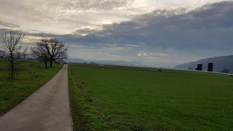 Blick von Untersiggenthal in Richtung Bözberg
