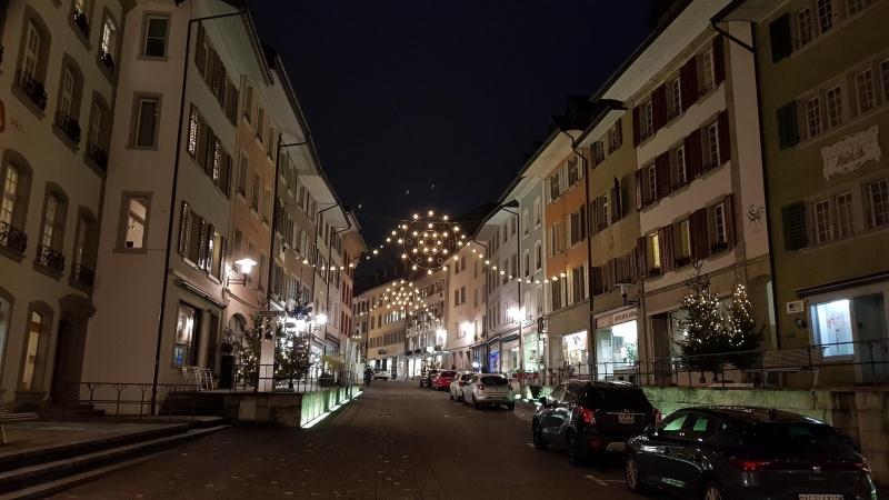 Adventsbeleuchtung in der Stadt Brugg