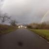 Mellingen mit Regenbogen über der Reuss