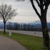 Blick in die Alpen, bei Jonen