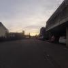 Sonnenuntergang über dem Quartier