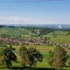 Blick vom Rotberg nach Mandach hinunter