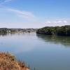Blick auf den Rhein beim Mumpf