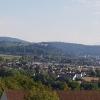 Blick zum Schloss Lenzburg hinüber, aus Sicht Schloss Wildegg