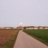 Vollmond über dem Schloss Lenzburg