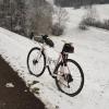 Winterbild mit dem Rennrad