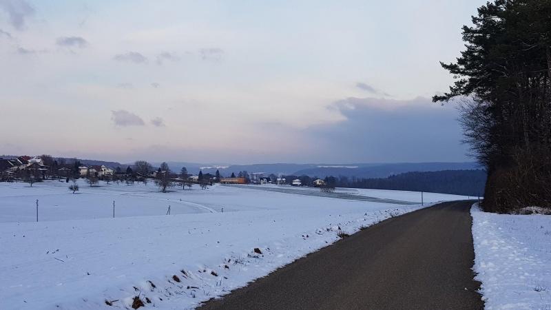 von Oberbözberg in Richtung Aaretal