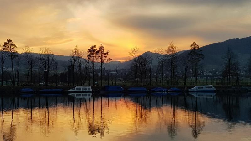 Sonnenuntergang über der Staffelegg