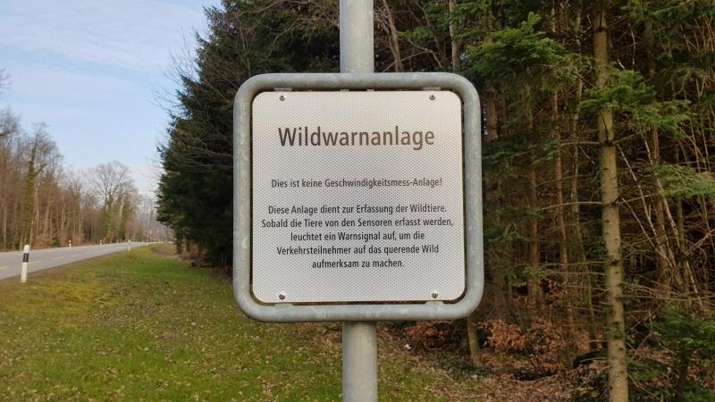 Wildwarnanlage