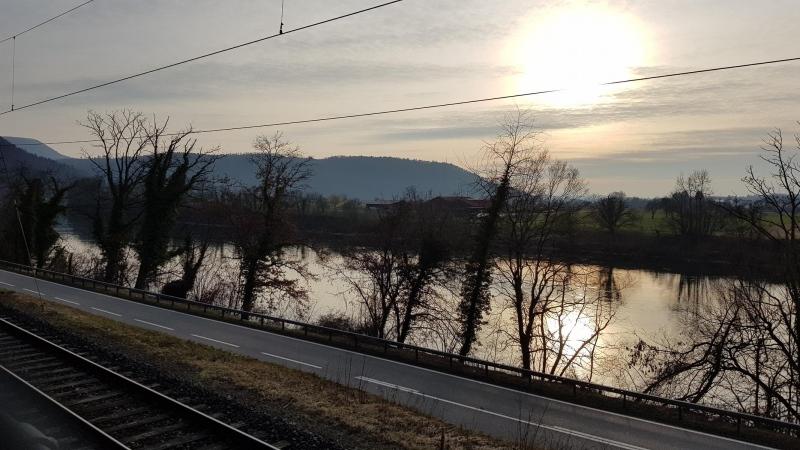 Rheintal im Abendlicht