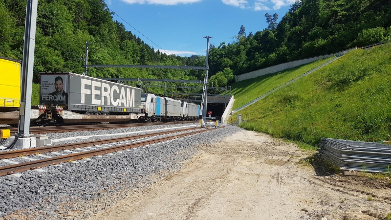 Bözberglinie, das neue Tunnelportal
