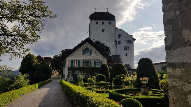 Schloss Wildegg mit Rosengarten