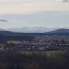Blick über das Aaretal in Richtung Alpenkamm