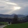 Blick zum Birrfeld und der Jurakette