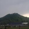 Schloss Brunegg vor der Regenwolke