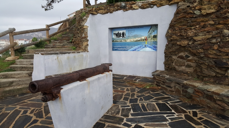 Kanonenrohr aus dem zweiten Weltkrieg