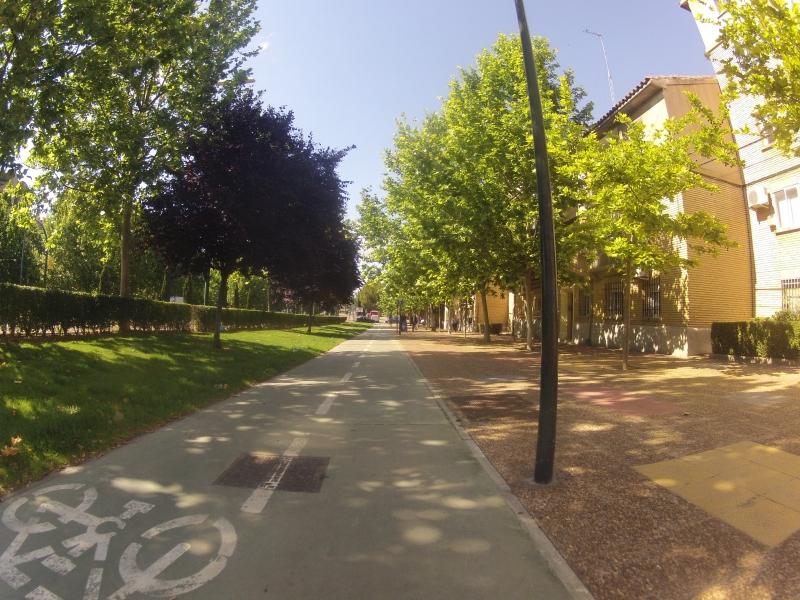 Fahrradweg in Zaragoza