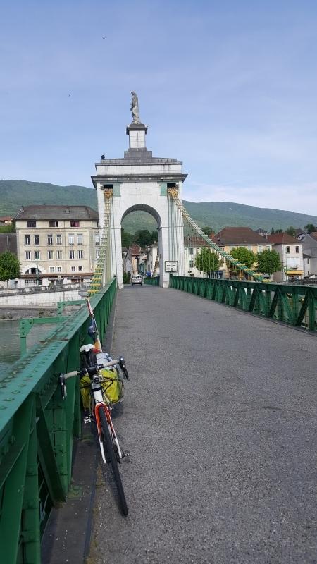 Rhonebrücke bei Seyssel
