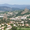 Le Puy-en-Velay Ausschnitt mit den beiden Vulkanschloten