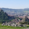 Die zwei Vulkanschlote von Le Puy en Velay