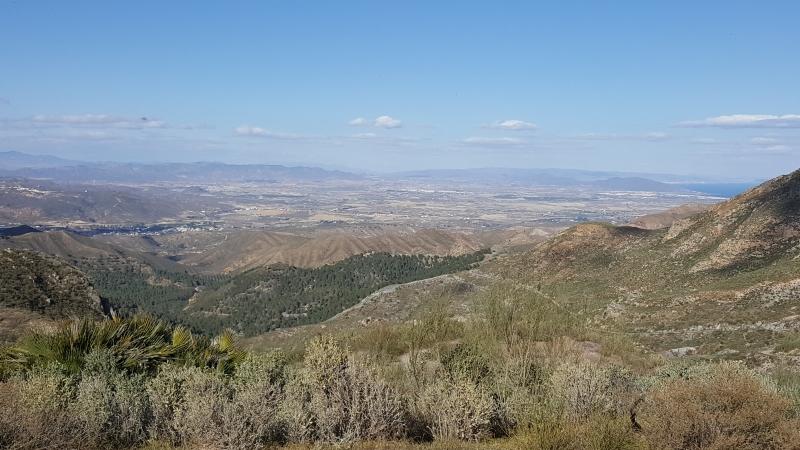 Blick vom höchsten Punkt in der Sierra Cabrena
