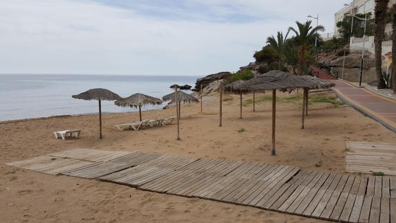 am Sandstrand von San Juan
