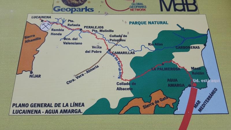 Details der Via Verde von Lucainena