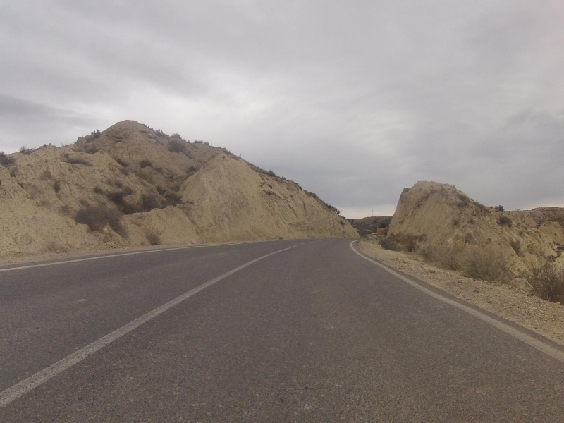 Palomeras, viele der Hügel sind aus Sand