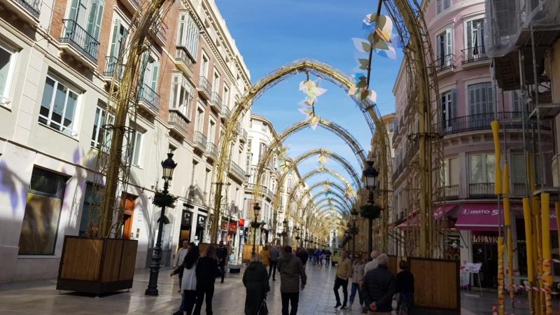 Fussgängerzone in der Nähe von Malaga
