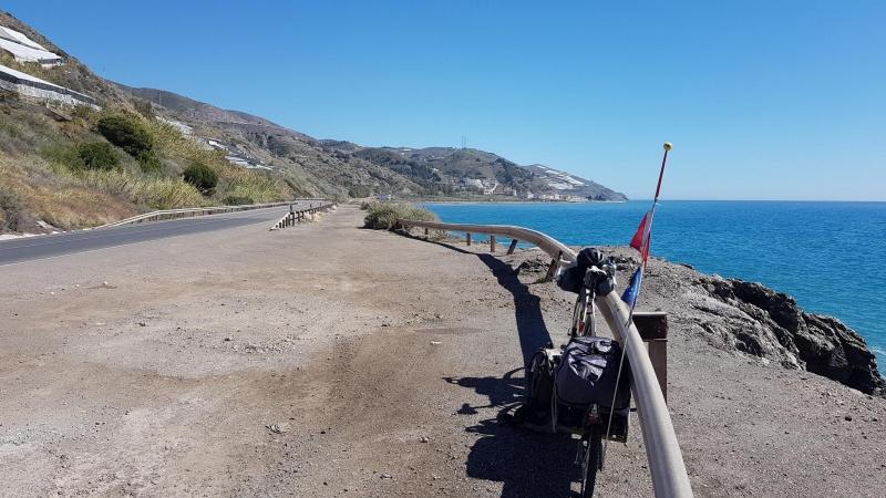 Küstenstrasse kurz vor El Rabita