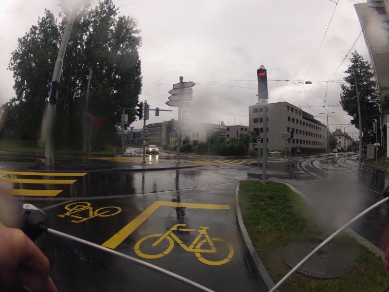 Radweg mit Gegenverkehr
