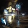 Regen an der Kreuzung