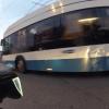Spiegelbild am Bus