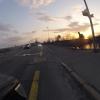 Radfahrer im Abendlicht