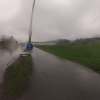 Dauerregen auf dem Arbeitsweg